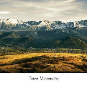 Collection mountain series - summer sunset in tatras