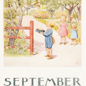 Collection months by elsa beskow - september