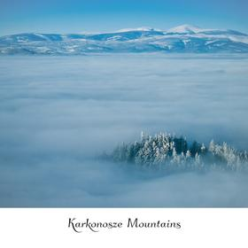 Collection mountain series - winter in karkonosze mountains