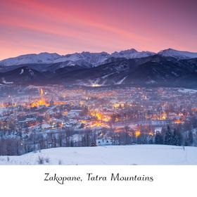 Collection mountain series - zakopane in winter