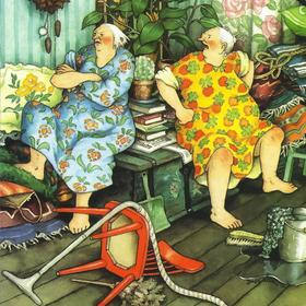 Collection old ladies - tidying up