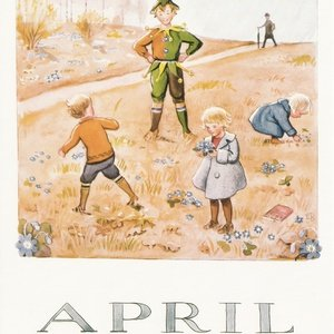 Collection months by elsa beskow - april