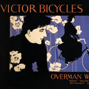 Postcard victor bicycles ad