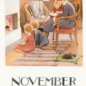 Collection months by elsa beskow - november