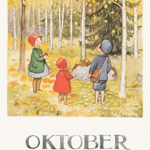 Collection months by elsa beskow - october