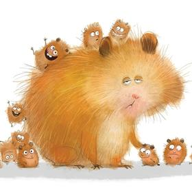 Collection wiebke's animals - hamster family