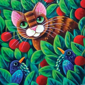 Collection fabulous painting - cherry charming