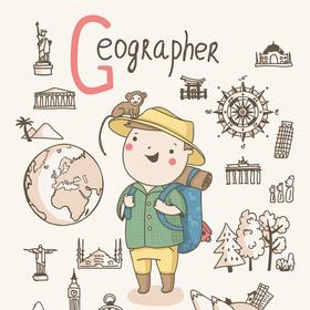 Collection cute alphabet profession - g - geographer