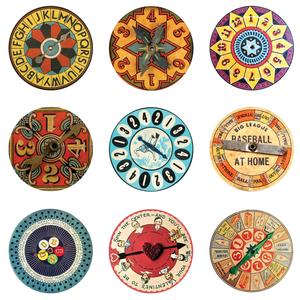 Postcard vintage game spinners