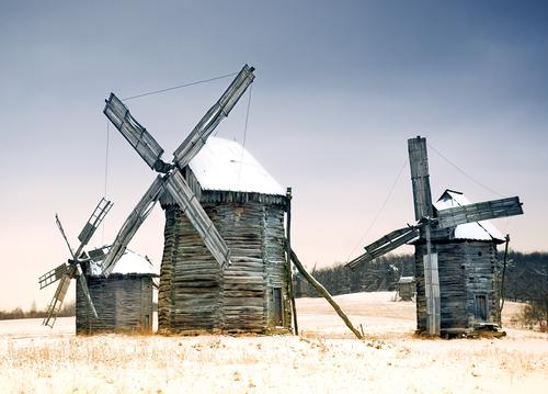 old wooden windmills - picture 1
