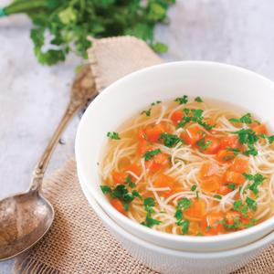 Postcard polish chicken broth