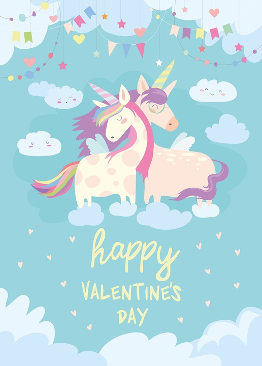 happy valentine's day - unicorns - picture 1