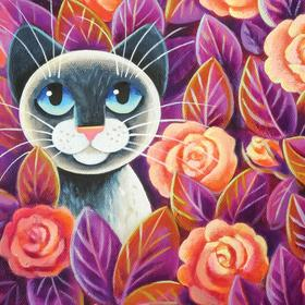 Collection fabulous painting - i like salmon pink roses