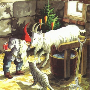 gnome with goat and cat - picture 1
