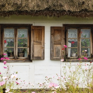 Postcard polish country cottage