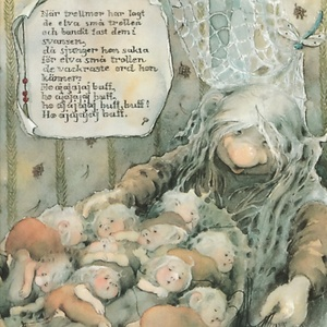 Postcard a lullaby for trolls