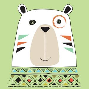 Postcard tribal bear