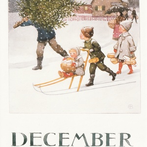 Collection months by elsa beskow - december