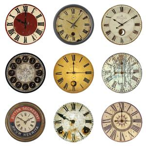 Postcard vintage clock faces