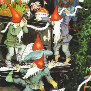 Collection christmas - dancing gnomes