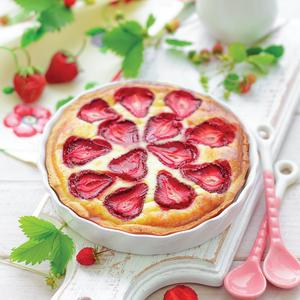 Postcard strawberry pie