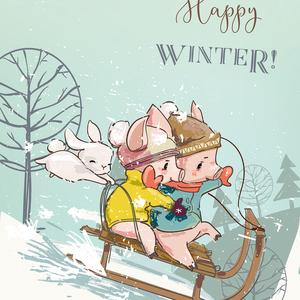 Postcard happy winter!