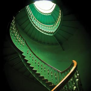 Postcard green staircase in wrocław