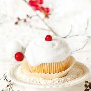 Postcard winter cupcake