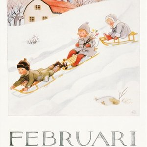 Collection months by elsa beskow - february