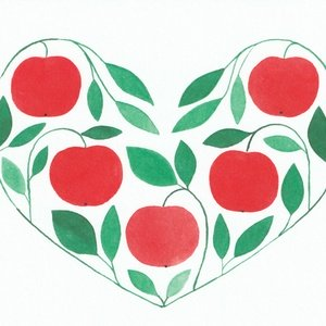 Collection hearts of nature - apple heart