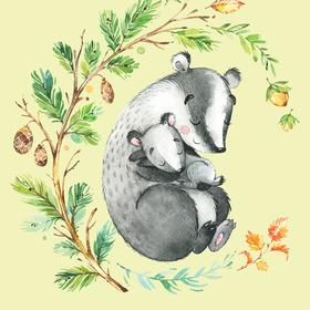 Collection mums & babies - badgers