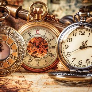 Postcard antique pocket watches