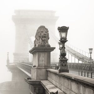 Postcard the széchenyi chain bridge in budapest