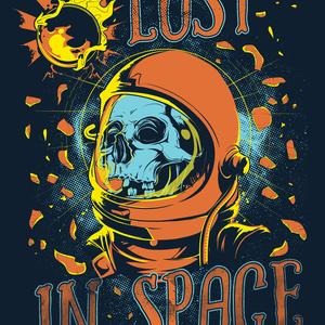 Postcard lost in space
