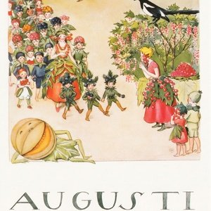 Collection months by elsa beskow - august
