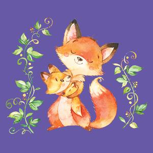 Postcard foxes