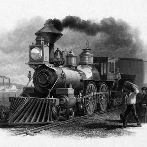 Postcard locomotive