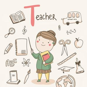 Postcard t - teacher