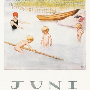 Collection months by elsa beskow - june