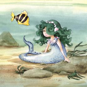 Collection watercolours - the mermaid
