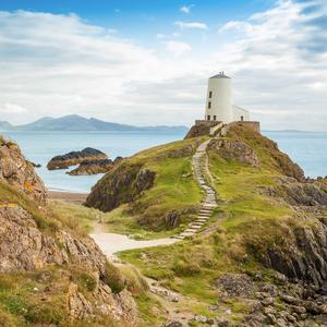 Postcard llanddwyn island lighthouse