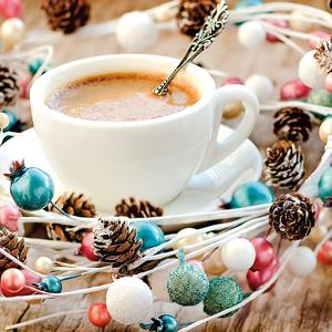 Postcard christmas coffee