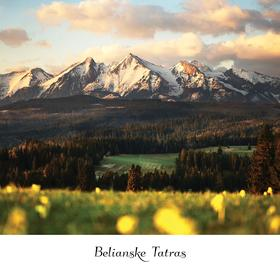 Collection mountain series - belianske tatras at sunrise
