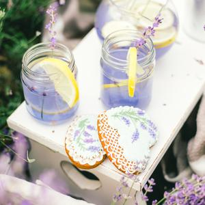 Postcard homemade lavender lemonade