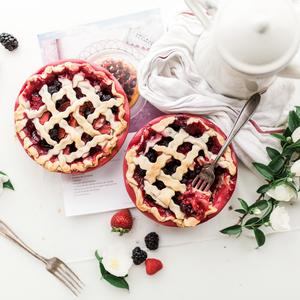 Postcard berry pies