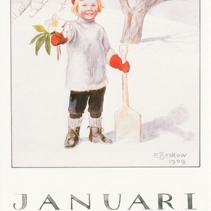 Collection months by elsa beskow - january