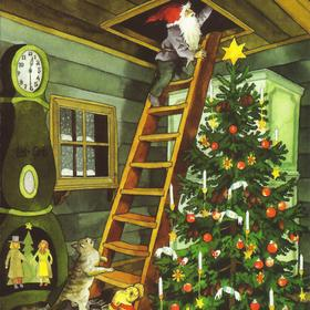 Collection christmas - gnome on ladder